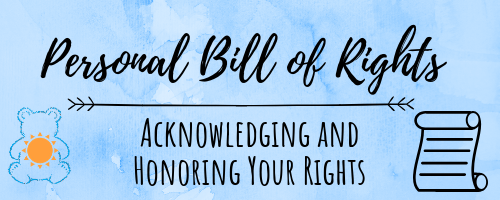 Image result for personal bill of rights